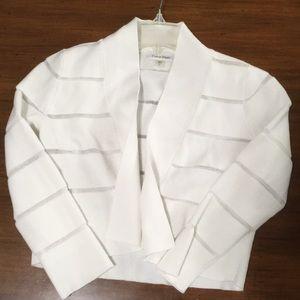 Calvin Klein White Shrug, size Small